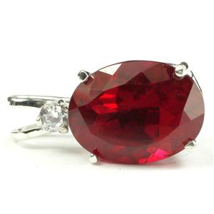 SP018, Created Ruby 925 Sterling Silver Pendant