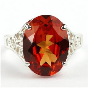 SR049, Padparadsha CZ, 925 Sterling Silver Ring