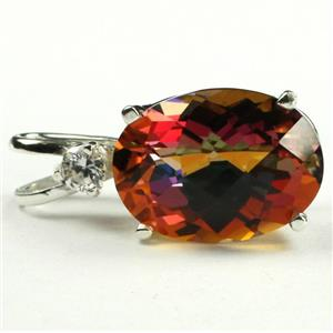 SP018, Twilight Fire Topaz, 925 Sterling Silver Pendant