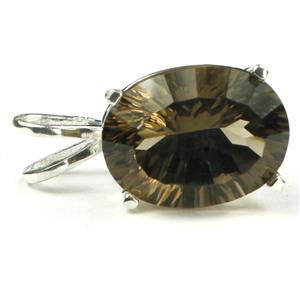 SP006, Smoky Quartz, 925 Sterling Silver Pendant