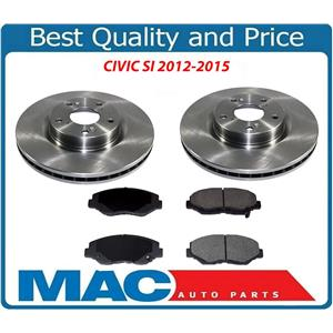 Fits Honda 12-15 Civic SI 2.4L Front Rotors & Ceramic Pads 31347 CD914