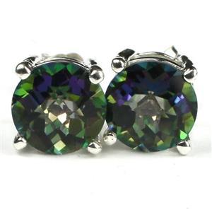 SE112, Mystic Fire Topaz, 925 Sterling Silver Earrings