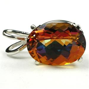 SP004, Twilight Fire Topaz, 925 Sterling Silver Pendant