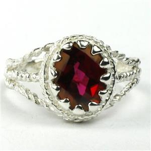 Crimson Topaz, 925 Sterling Silver Ring, SR070