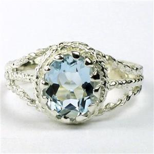 Aquamarie, 925 Sterling Silver Ring, SR070