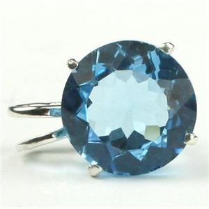 SP089, Swiss Blue Topaz 925 Sterling Silver Pendant