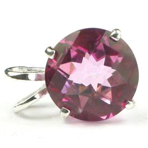SP089, Pure Pink Topaz 925 Sterling Silver Pendant