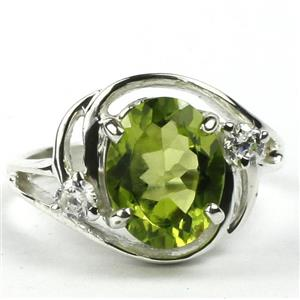 SR021, Peridot, 925 Sterling Silver Ring
