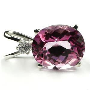 SP022, Pure Pink Topaz 925 Sterling Silver Pendant