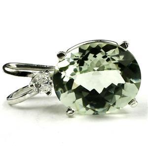 SP022, Green Amethyst 925 Sterling Silver Pendant