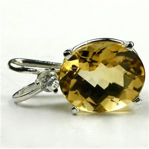 SP022, Citrine, 925 Sterling Silver Pendant