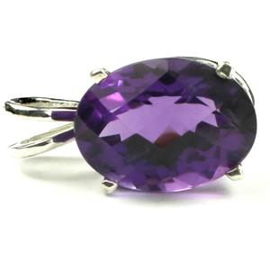 SP006, Amethyst 925 Sterling Silver Pendant
