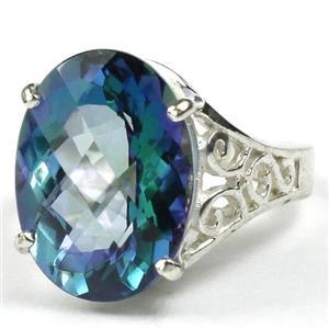 SR049, Neptune Garden Topaz, 925 Sterling Silver Ring