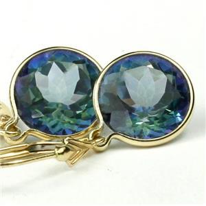 E211, Neptune Garden Topaz 14k Gold Earrings
