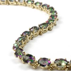 B001, Mystic Fire Topaz Gold Bracelet