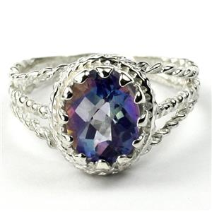 Mystic Fire Topaz, 925 Sterling Silver Ring, SR070