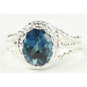 London Blue Topaz, 925 Sterling Silver Ring, SR070