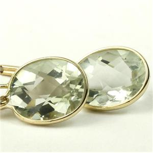 E101, Green Amethyst, 14k Gold