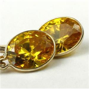 E101, Golden Yellow CZ, 14k Gold Earrings Leverlbacks