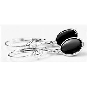 SE001, Black Onyx, 925 Sterling Silver Earrings