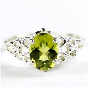 SR302, Peridot, 925 Sterling Silver Ladies Ring