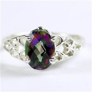 SR302, Mystic Fire Topaz,  925 Sterling Silver Ring