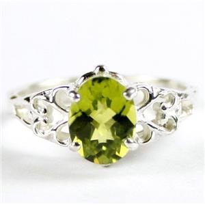 SR302, Peridot, 925 Sterling Silver Ring