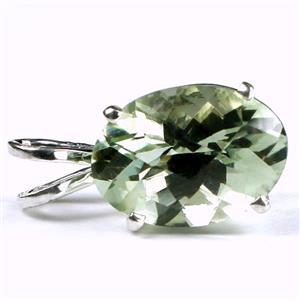 SP040, Green Amethyst (Prasiolite), 925 Sterling Silver Pendant