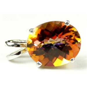 SP040, Twilight Fire Topaz 925 Sterling Silver Pendant