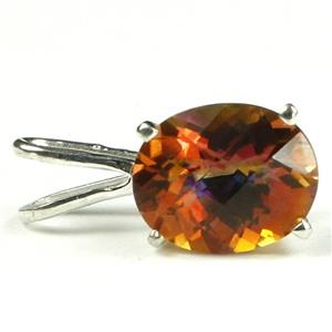 SP002, Twilight Fire Topaz 925 Sterling Silver Pendant