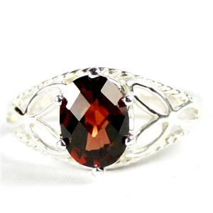 SR137, Mozambique Garnet, 925 Sterling Silver Ring