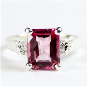 SR221, Pure Pink Topaz, 925 Sterling Silver Ring