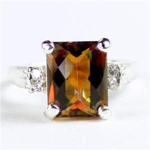 SR221, Twilight Fire Topaz, 925 Sterling Silver Ring
