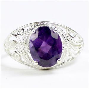 SR083, Amethyst, 925 Sterling Silver Ladies Ring