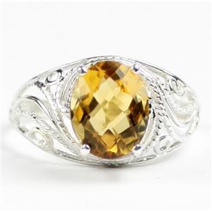 SR083, Citrine, 925 Sterling Silver Ladies Ring