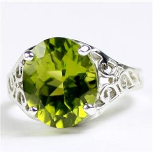 SR057, Peridot, 925 Sterling Silver Ladies Ring