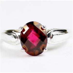 SR058, Crimson Fire Topaz, 925 Sterling Silver Ladies Ring