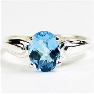 SR058, Swiss Blue Topaz, 925 Sterling Silver Ring