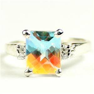 SR221, Mercury Mist Topaz, 925 Sterling Silver Ring