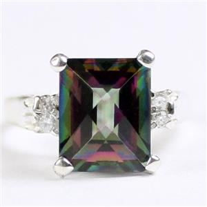 SR221, Mystic Fire Topaz, 925 Sterling Silver Ring