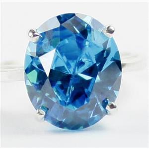 Swiss Blue CZ, 925 Sterling Silver Ladies Ring, SR055