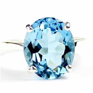 Swiss Blue Topaz, 925 Sterling Silver Ring, SR055