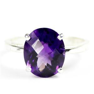 Amethyst, 925 Sterling Silver Ring, SR055