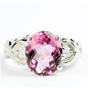 SR243, Pure Pink Topaz, 925 Sterling Silver Ladies Ring