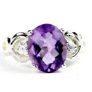 SR243, Amethyst, 925 Sterling Silver  Ladies Ring