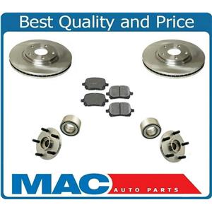 99-01 RX300 4x4 AWD Front Brake Rotors Ceramic Pads Frt Hubs & Bearings 5Pc Kit