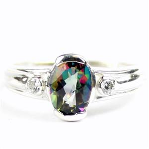 SR370, Mystic Fire Topaz, 925 Sterling Silver Ladies Ring