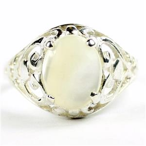 Mother Of Pearl, 925 Sterling Silver Ring, SR004