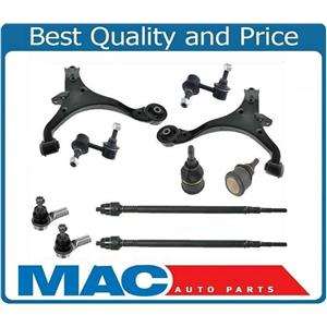 Lower Control Arms Ball Joints Sway Bar Links Tie Rods For 01-05 Honda Civic