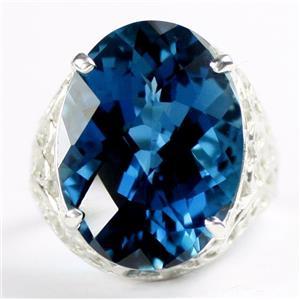 SR291, London Blue Topaz, 925 Sterling Silver Ladies Ring